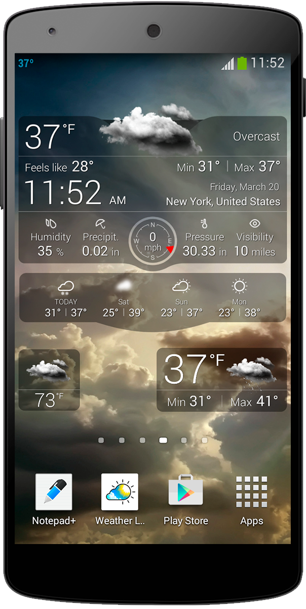 go weather live wallpaper